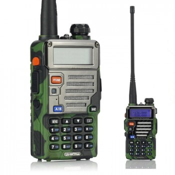 BaoFeng UV-5R Plus / UV-5R+ 136-174/400-520MHz Two-Way Ham Radio, with Earphone, Qualette Series *Camouflage*