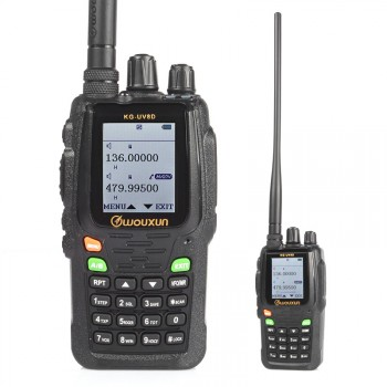 Wouxun KG-UV8D Two-Way Radio, 136-174/420-520MHz Dual Band Transceiver 999 Memory Channels