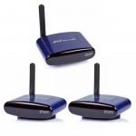 PAT-530 5.8GHz Wireless A/V Transmitter & 2 Receivers Audio Video IR Remote 200M