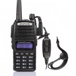 2pcs x US-BaoFeng UV-82 Two-Way Radio, Dual Band VHF/UHF 136-174/400-520MHz, + Daul PTT Earpiece