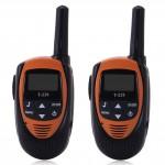 T-228 2Pcs Walkie Talkie Set 22 Channel UHF 400-470MHz 2-Way Radio 3KM Interphone Kids