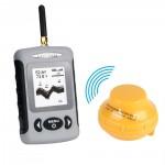 LeaningTech JL718 Portable Wireless Sonar Smart Fish Finder, with Dot Matrix 40m Range, Black