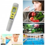 Pen-Type pH Meter pH-618 Automatic Correction High Precision pH Meter Tester Pen for Aquarium and Environment Water
