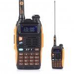 BaoFeng GT-3 Mark II Two-Way Radio, Dual Band UHF/VHF 136-174/400-520MHz with 23CM High Gain Antenna and Car Charger