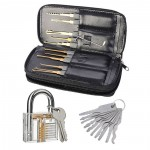 Complete Lock Practice Opener Lock Set+Key Tool Set+Pro Cutaway for Locksmith