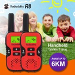 Radioddity R8 Kids Walkie-Talkie 22CH 0.5W GMRS/FRS 2 Way Radio (1 Pair)