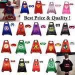 Halloween Costume Kids Cape + Mask Set Batman Superman Superhero thor Party Gift