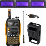 Baofeng GT-3TP MarkIII 1/4/8W 136-174/400-520MHz FM Two-way Radio HP Transceiver + Soft Case