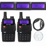2 Pack Baofeng BF-F9+TP Tri-Power 8/4/1W Two-Way Radio + 1 Programming Cable
