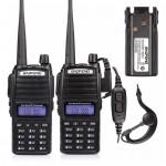 2pcs x BaoFeng UV-82L Kit 136-174/400-520MHz,+ Extra-Battery