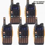5pcs x BaoFeng GT-3 Mark II Two-Way Radio, Dual Band UHF/VHF 136-174/400-520MHz