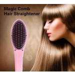 2 in 1 Electric Hair Straightener Comb LCD Iron Brush Auto Massager Tool