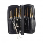 Original 24pcs Lock Pick Training Set Locksmith Practice Tools Leather Packing