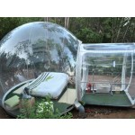 3.5M Outdoor Single Tunnel Inflatable Bubble Tent Transparent Camping Tent