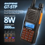 2016 BaoFeng GT-5TP Tri-Power 1/4/8W Two-Way Radio, Dual Band VHF/UHF 136-174/400-520MHz