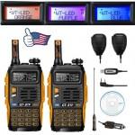 2 Pack 2015 Baofeng GT-3TP Transceiver + 2 Remote Speaker + 1 Programming Cable