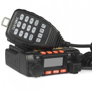 SainSonic GT-890 Mini Dual Band Car Radio 136-174/400-480MHz 25W/20W Mobile Transeiver + Programming Cable
