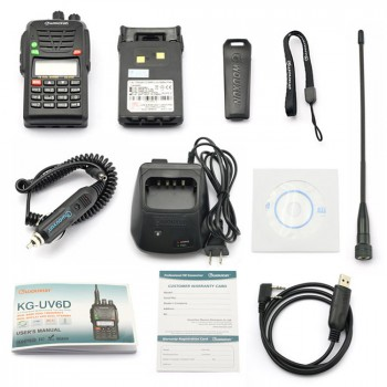 Wouxun KG-UV6D Kit 420-520MHz, + Programming Cable