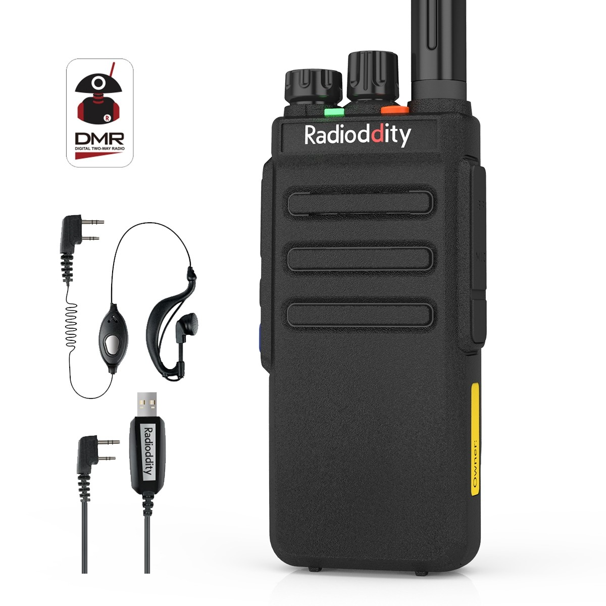 Radioddity GD-77S Dual Band Dual Time Slot DMR Two Way Radio Compatible with MOTOTRBO + Programming Cable