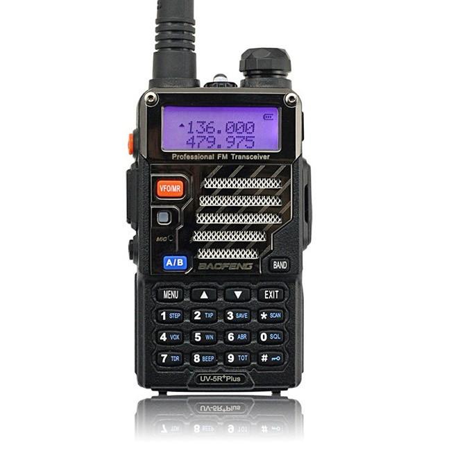 Baofeng *UV-5R Plus* Two way Radio Kit + Orginal Remote Speaker