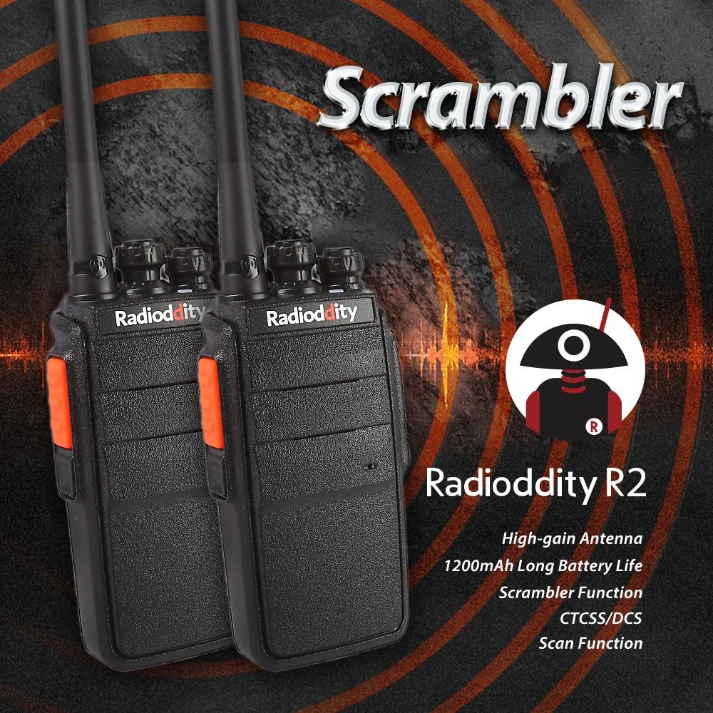 2X Radioddity R2 Walkie-Talkie Two-Way Radios (Stand 4-floor Fall)