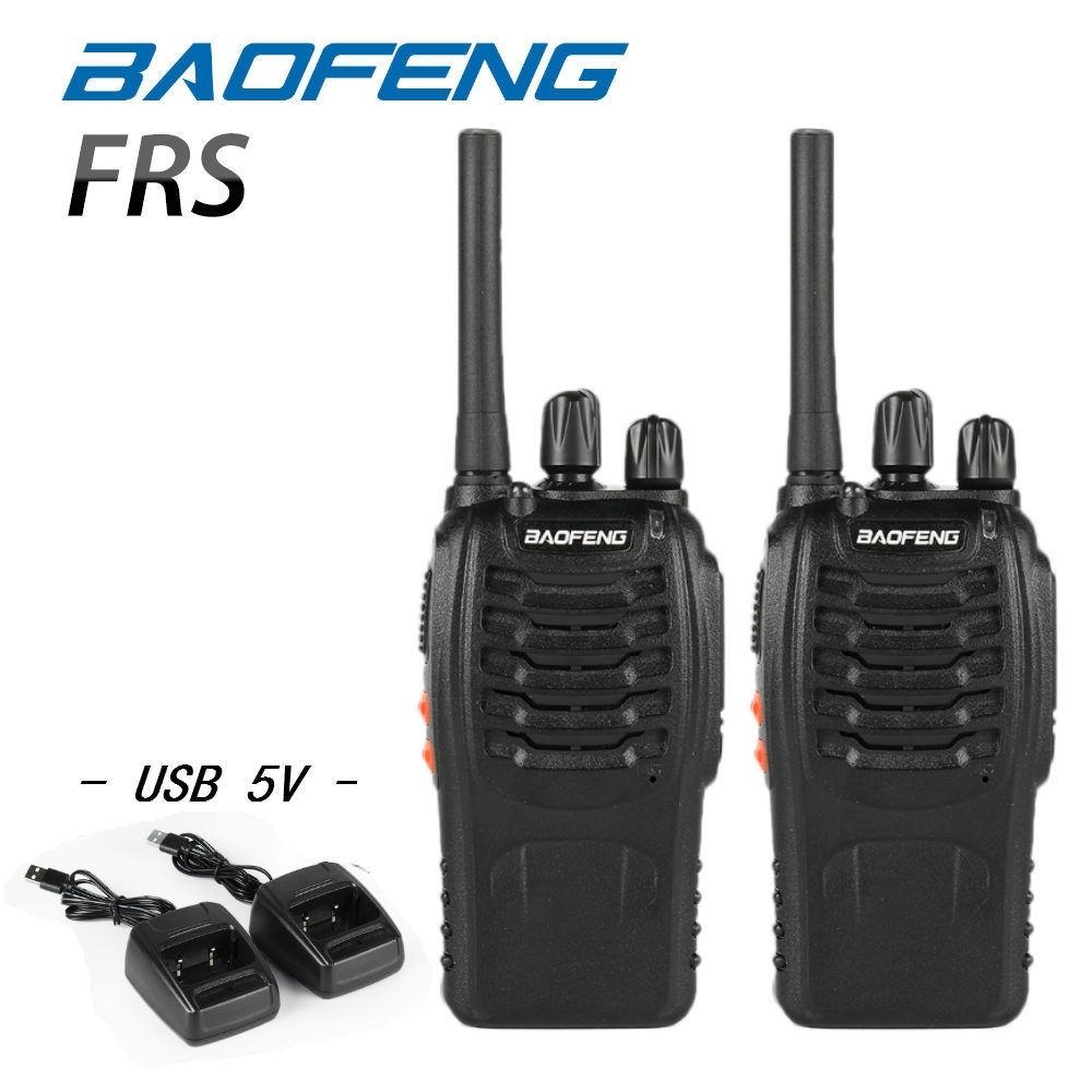 Baofeng BF-88A FRS Radio Walkie Talkie Long Range Two-Way Radio (Upgrade Version Of BF-888S), 16 Channels CTCSS/DCS 462MHz-467MHz Handheld Radio, Pack of 2