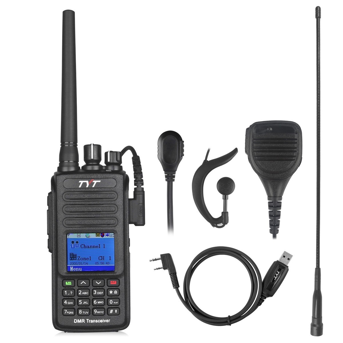 TYT MD-390G Waterproof DMR Digital Radio 400-480UHF 2200mAh + GPS+ Remote Speaker