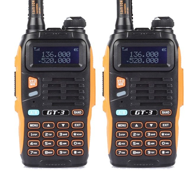 2pcs x BaoFeng GT-3 Mark II  Dual Band UHF/VHF Two-Way Radio