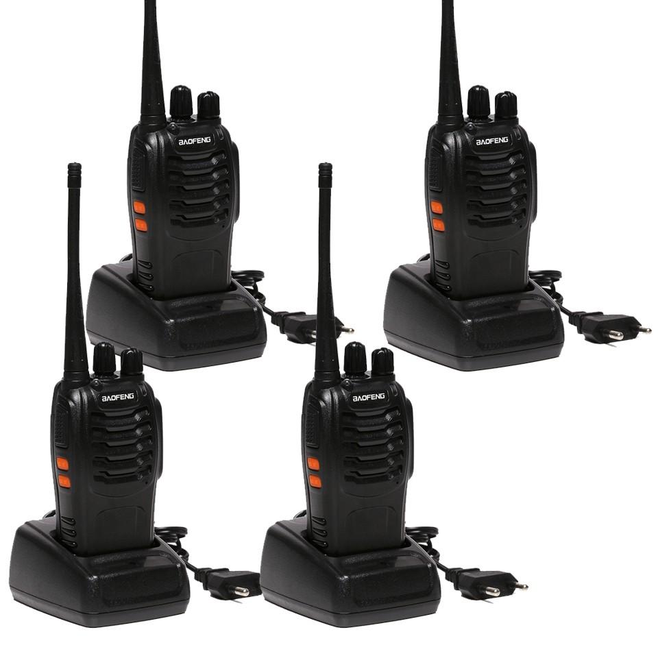 4 PCS Baofeng BF-888 Two Way Radio Walkie Talkie