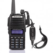 BaoFeng UV-82L Two-Way Radio, Dual Band UHF/VHF 136-174/400-520MHz,+ PTT Earpiece