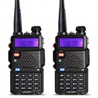 2pcs BaoFeng UV-5R Walkie Talkie Two Way Radio +2x Antenna+ 2xadpter +2 x Desktop Charger