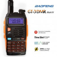 Baofeng GT-3 DMR Mark IV Dual Band VHF/UHF Walkie Talkie Two Way Radio Ham Transceiver with DMR Function Time Slot 1 Repeater