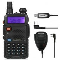 BaoFeng UV-5RTP Two-way Radio+ Orginal Remote Speaker, + Programming Cable