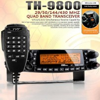 TYT TH-9800 Pro 50W 809CH Quad Band Dual Display Repeater Car Truck Ham Radio+ programming cable