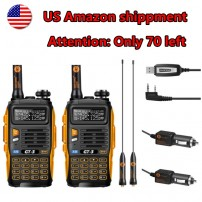 2pcs x BaoFeng GT-3 Mark II Two way Radio + Programming Cable