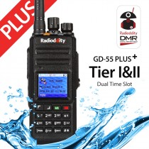 Radioddity GD-55 Plus UHF DMR Digital Radio+ 2800mAh Battery Mototrbo Tier I&II