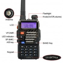 BaoFeng*UV-5R Plus* Two Way Radio Kit  + Orginal Remote Speaker, + Programming Cable