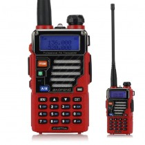 BaoFeng UV-5R Plus / UV-5R Two-way Radio Walkie Talkie Red + Earphone