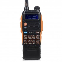 BaoFeng GT-3 Mark II Two-Way Radio, Dual Band UHF/VHF + 3800mAh Battery