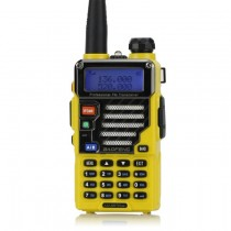 BaoFeng UV-5R Plus / UV-5R  Two-way Radio  Walkie Talkie Yellow + Earphone