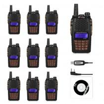 10pcs x BaoFeng UV-6R Kit 136-174/400-520MHz, + Programming Cable