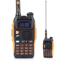 BaoFeng GT-3 Mark II Two-Way Radio, Dual Band UHF/VHF + 23CM High Gain Antenna +Car Charger