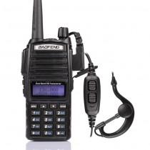 BaoFeng UV-82L Two-Way Radio, Dual Band UHF/VHF 136-174/400-520MHz,+ PTT Earpiece