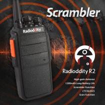 Radioddity R2 Walkie-Talkie 400-470MHz 16CH 2W 1100mHA (Stand 4-floor Fall)