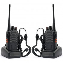 2pcs x BAOFENG BF-888S UHF  Ham Two Way Radio + Earpiece