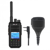 TYT MD-380 DMR Digital Radio + programming cable + Remote Speaker
