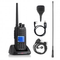 TYT MD-390 Waterproof DMR Digital Radio 400-480UHF 2200mAh + Programming cable+Remote Speaker