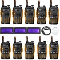 10 Pack 2015 Baofeng GT-3TP Transceiver + 1 Programming Cable