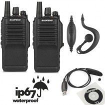 2x Baofeng BF-9700 UHF  Two-way Radio Waterproof + USB Programming Cable+ Higan Gain Antenna