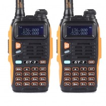 2pcs x BaoFeng GT-3 Mark II  Dual Band UHF/VHF Two-Way Radio